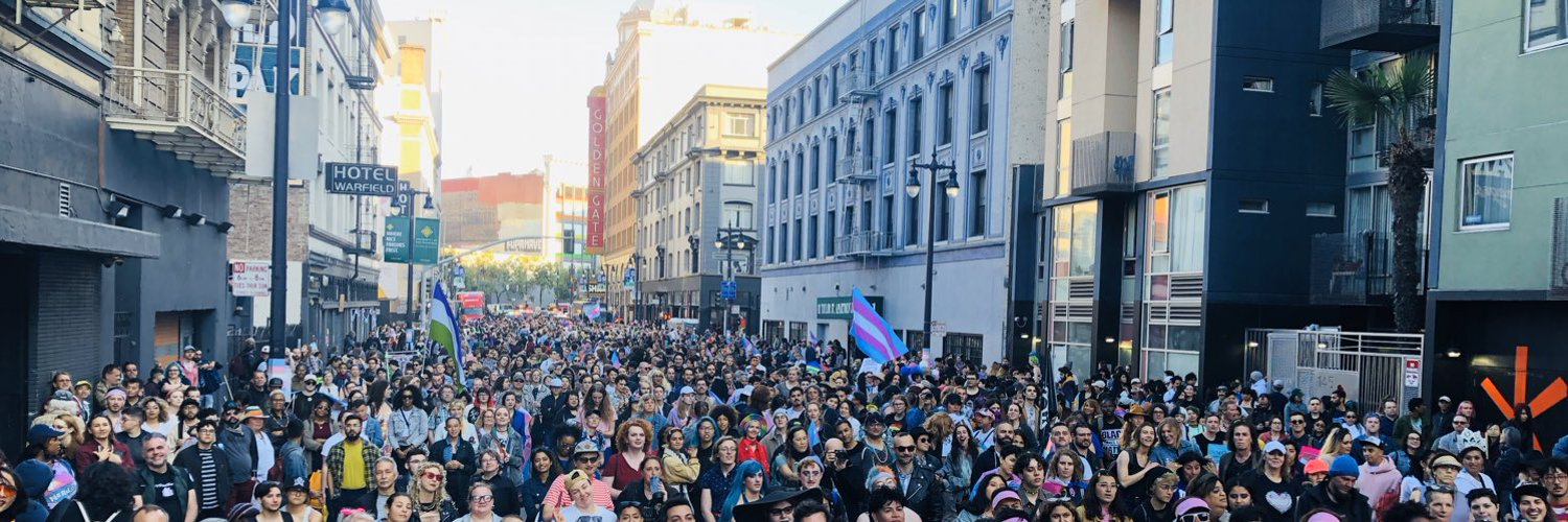 A view of Trans March Rally from the stage at Turk and Taylor.